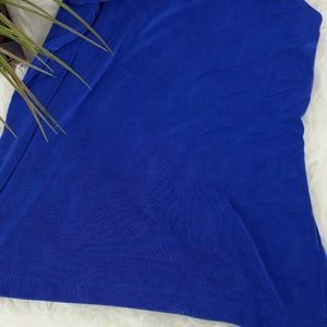 Chico's Travelers Size 2 Blue Top Blouse